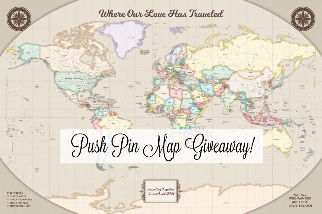 Push Pin Map Giveaway thedailyadventuresofme.com