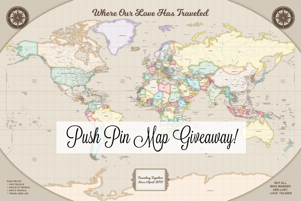 Push Pin Map Giveaway thedailyadventuresofme.com