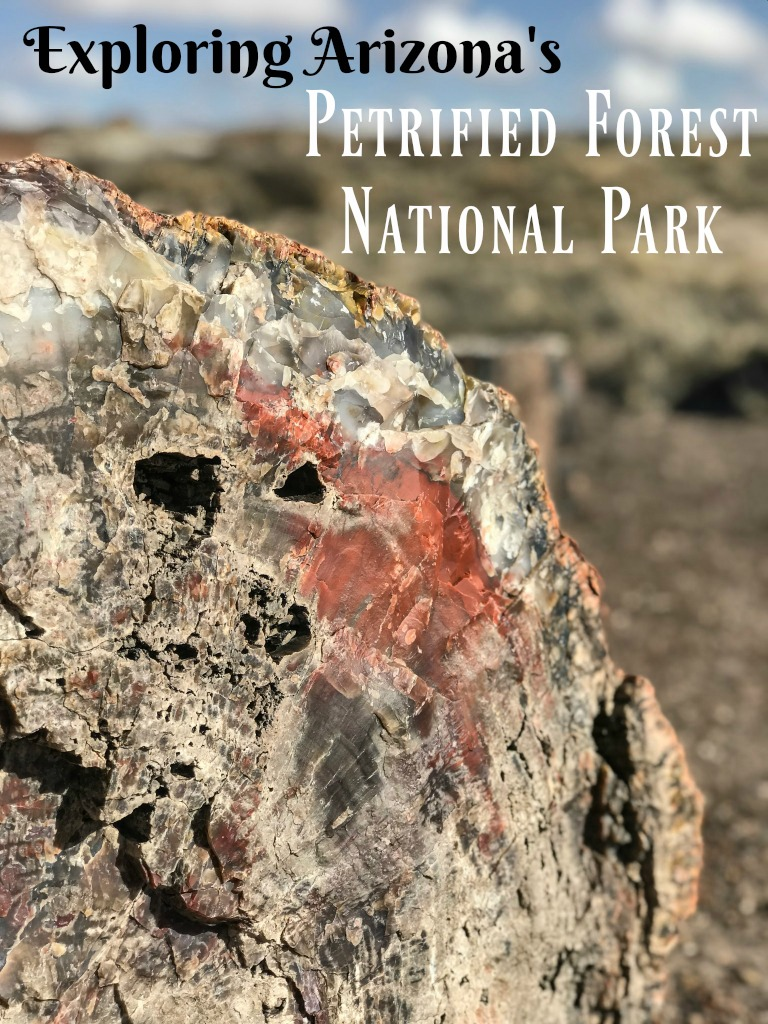 Tan mesas, blue striated badlands, red buttes and of course, petrified wood. The Painted Desert and the Petrified Forest National Park are worth exploring. Add these parks to your Arizona road trip or after a vacation to the Grand Canyon. #USTravel #USNationalParks #PetrifiedWood