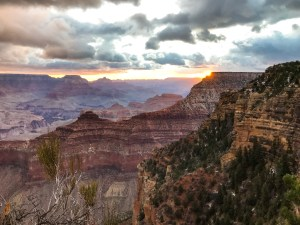 Where to see a sunrise over the Grand Canyon in March.