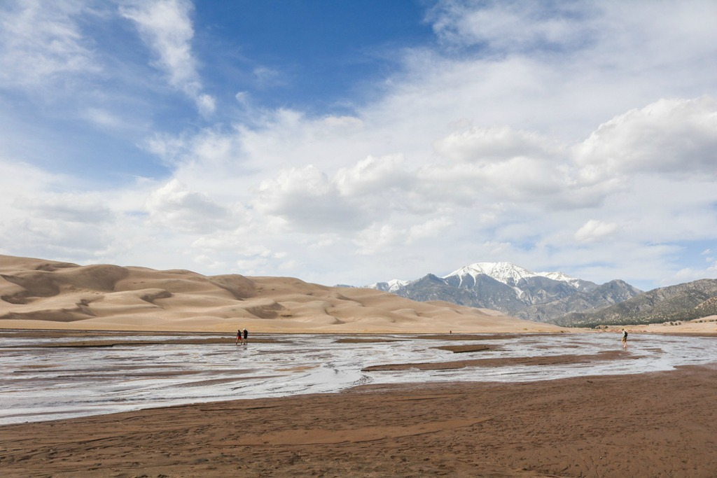 Great Sand Dunes National Park in Colorado in Spring