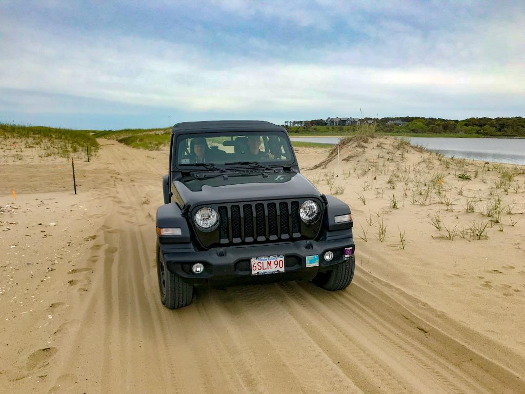 Jeep ride to Poge National Park, Chappaquiddick, Massachusetts.