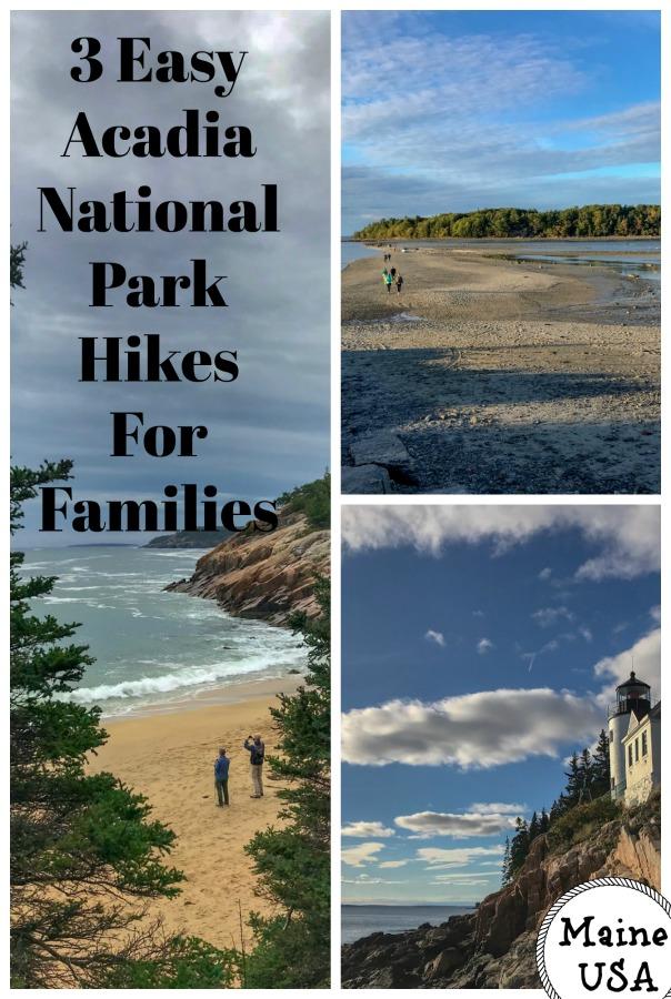 Read on for a Acadia family itinerary, including a easy, family hikes in Acadia National Park, Maine. #familytravel #mainehikes #familyhikinginMaine