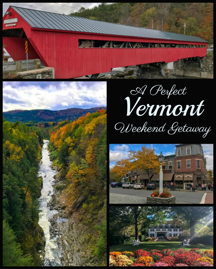 "Spend one perfect weekend in southern Vermont around the ""prettiest small town in the US."" Enjoy its art, history and charm. Read on for #thingstodoinWoodstockVT #NewEngland #USA"