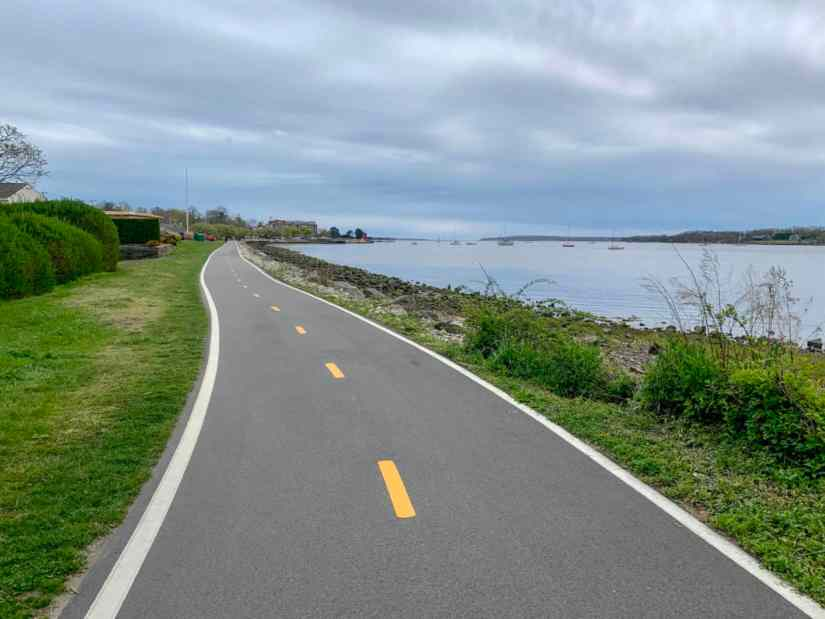 BIke paths in Eastern Rhode Island