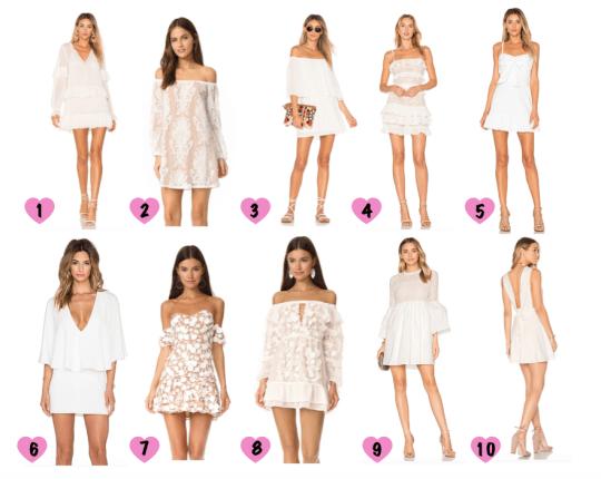 Ten of My Favorite White Dresses