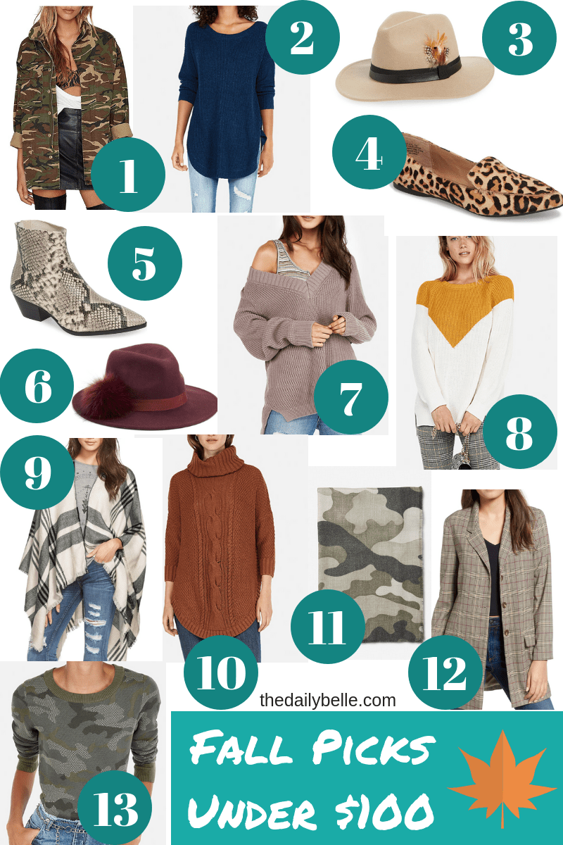 Fall Picks Under $100