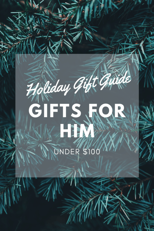 Holiday Gift Guide: Gifts for Him Under $100