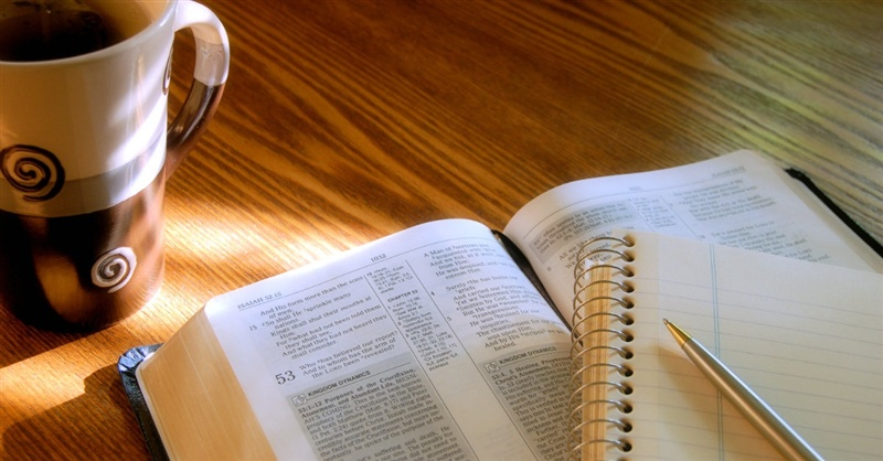 Image result for bible glasses pen paper coffee cup