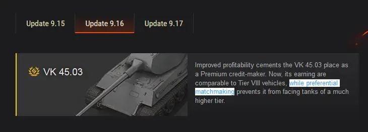 Tank matchmaking
