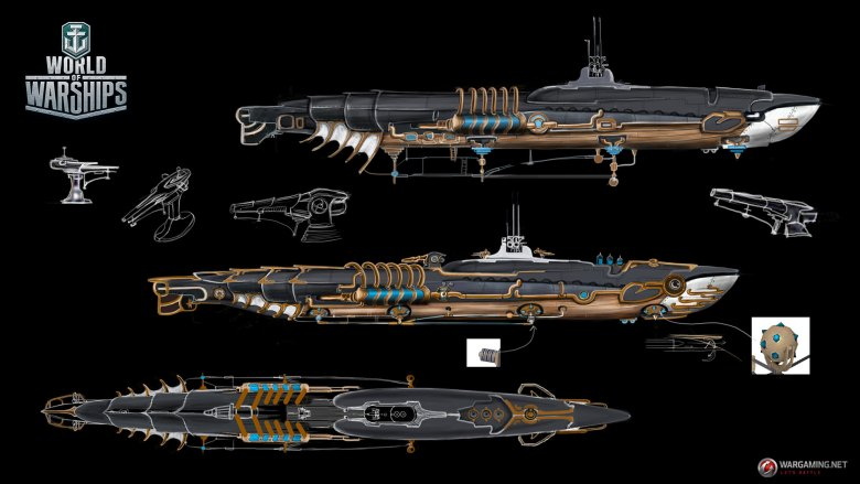 WG_WOWS_SPB_Halloween_Ships_workstages_04_1