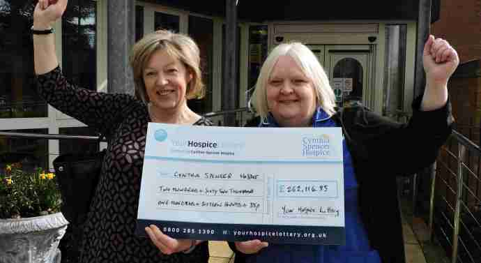 Your Hospice Lottery raises £250,000 for Cynthia Spencer Hospice