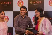 From left to right – Swati and Siddharth Revankar, Director Lotus Inn Pvt. Ltd. and Deepika Rao, MD & CEO, Ginger Hotels