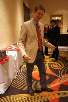 Quirky former SGA Vice President touted a Banana Republic sports coat and showed off his newest pair of kicks: Lucchese gator-skin boots. | Natalie Harms/The Daily Cougar