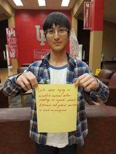 """""""The biggest difference I've found in my own culture and American culture is that we greet people differently,"""" said Shu-Yuan Yang, a computer science sophomore from Yunlin, Taiwan. """"For example, we'll probably give another person an embrace or a very warm greeting here in America, whereas in Taiwan, you'd probably just say, 'Good morning' or 'Hi.'"""""""