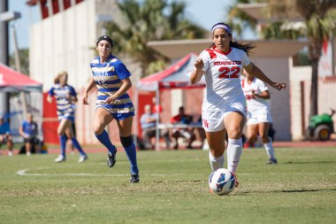 Freshman midfielder Kristina Shulz totaled one goal for the Cougars this season, playing in all 16 games. | Justin Tijerina/The Cougar