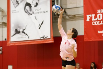 Sophomore middle blocker Hunter Wise has been a big part of the Cougars success this season but has also seen their shortcomings. | Justin Tijerina/The Cougar