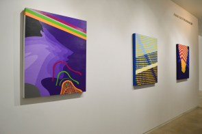 "Erick Ockrassa's ""Fourtain 2.0,"" left, and ""Cornered,"" which was completed last year. 