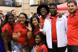 The Homecoming board shows off their pride at Cat's Back. Homecoming will be held Nov. 2-7. | Catherine Lara/The Cougar