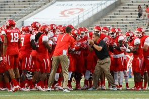 Head coach Tom Herman said after the game that while he was pleased with the outcome, the lack of physicality in the first half alarmed him. | Justin Tijerina/The Cougar
