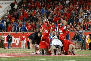 A key moment of the game came when junior starting quarterback Greg Ward Jr. went down with an injury in the second quarter. | Justin Tijerina/The Cougar