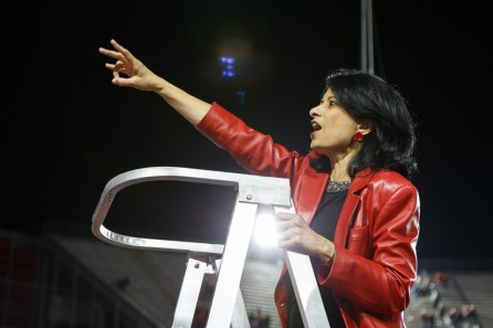 President Renu Khator has been a big supporter of the team all season, urging fans to fill the stadium every week. | Justin Tijerina/The Cougar