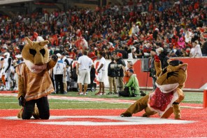 The spirit of Halloween was seen around the stadium, as Shasta, Sasha and the Spirit of Houston band were all dressed in costumes. | Justin Tijerina/The Cougar
