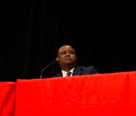 Chief of UHPD Ceaser Moore was one of three members on the panel addressing the community's concerns regarding Campus Carry.   Pablo Milanese/The Cougar