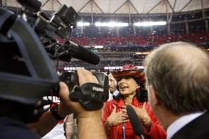 """President Renu Khator told the press that winning the Peach bowl is a statement. """"We have arrived,"""" Khator said. 