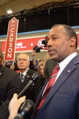 GOP candidate hopeful Ben Carson.| Mónica Rojas/ The Cougar