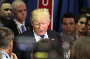 Real estate mogul Donald Trump.  Glissette Santana / The Cougar