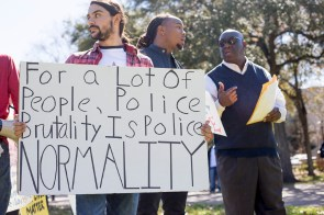 The main focus of the protest was to draw attention to the people wronged by police brutality in recent months. | Dailey Hubbard/The Cougar