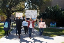Students from all backgrounds joined the protest. | Dailey Hubbard/The Cougar