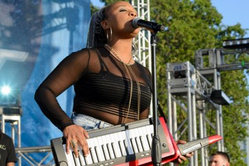 Sugar Joiko played the keytar and piano with her three-piece band. |The Cougar/Mattew Barrett