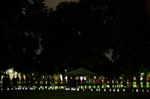 At 9 p.m. students lit candles for the Luminaria Ceremony to honor cancer patients. | Justin Tijerina / The Cougar.