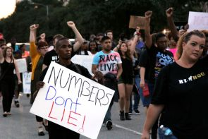 Although on social media, the event was supposed to be run by the organization BLM Hou, the march was disavowed by the same organization that night, claiming that it had been hijacked by the Black Lives Matter Network. | Thom Dwyer/The Cougar