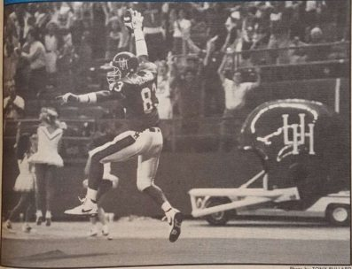 """""""Coogs escape high flyin' Owls."""" wide receiver Patrick Cooper hauled in the winning touchdown in the fourth quarter to surpass rival, the unranked Rice, 24-22. This was the first test of the season. 