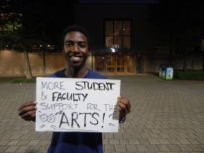 Theatre MFA candidate Abraham Ntonya said the arts deserve more support at UH. | Alycia Olson/The Cougar