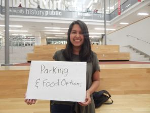 Accounting junior Susana Salas said parking and food options could use an upgrade. | Alycia Olson/The Cougar