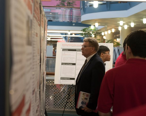 The dean of Honors College, William Monroe, was one of hundreds of attendees of Undergraduate Research Day held Thursday in the Honors College. | Ajani Stewart/The Cougar
