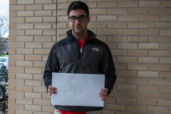 """""""No because it is not guaranteed and the scholarships were made to help pay for their tuition, pay for their book, etc., and it's very important for universities to provide that for students,"""" said mathematical biology junior Ali Khalafi.   Julie Araica/The Cougar"""