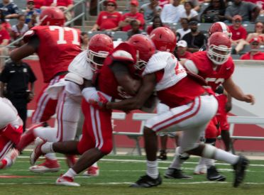 The Cougars' 230 rushing yards accounted for over two-thirds of the total yards (319). | Ajani Stewart/The Cougar
