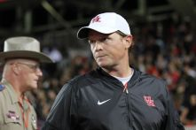 Head coach Major Applewhite has struggled in his first year as head coach for the Cougars. With the two most recent losses, the Cougars must win at least two more games to become bowl-eligible.   Thomas Dwyer/ The Cougar