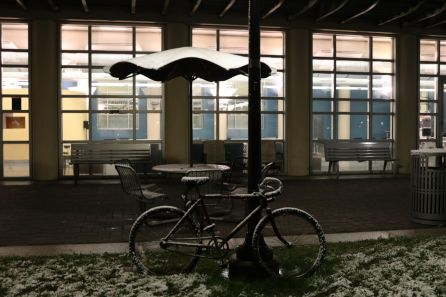Measurements at George Bush International Airport, roughly 23 miles north of UH, showed just under an inch of total snowfall late Thursday night and early Friday morning. | Thomas Dwyer/The Cougar