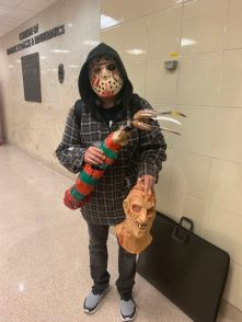 """""""I just love horror. It's been around for a long time, and I hope to make horror films,"""" said communications senior Gerardo Serrato. 