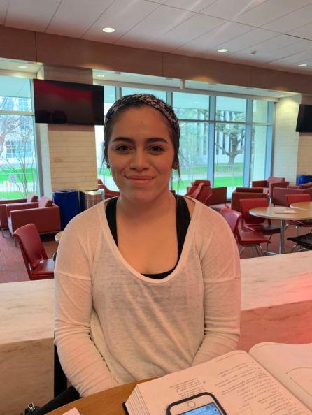 """I saw someone sneeze on another person once,"" said bilingual education freshman Caroline Alvarez. | McKenzie Misiaszek/The Cougar"