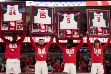The seniors were honored at the beginning of the game. | Ahmed Gul/The Cougar