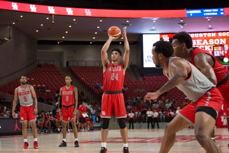 The Woodlands-native returned to the Houston area after transferring from Kansas earlier this season. | Trevor Nolley/The Cougar