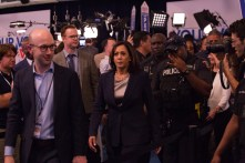 Sen. Kamala Harris frequently targeted President Trump by name during Thursday night's debate. | Trevor Nolley/The Cougar
