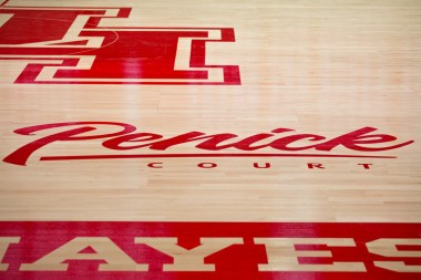 The basketball court now dons the Penick family name. | Trevor Nolley/The Cougar